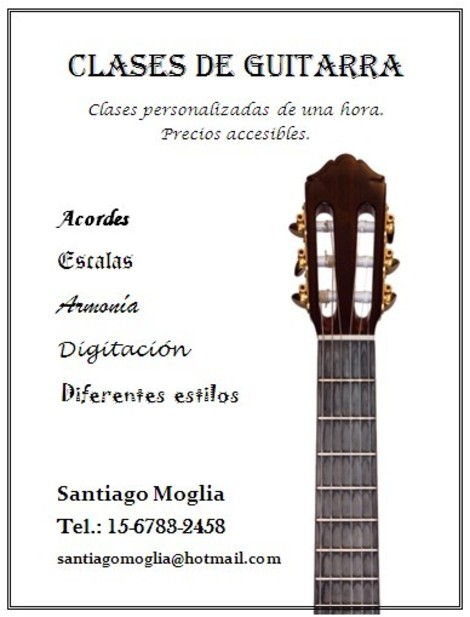 Clases De Guitarra En Quilmes Flyers Gu 237 A Local