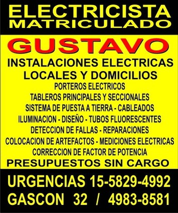 Electricista A Domicilio En Caballito Capital Federal